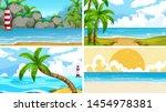set of tropical ocean nature...   Shutterstock .eps vector #1454978381
