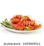 Grilled Lobster Tails Served...