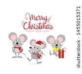 merry christmas and happy new... | Shutterstock .eps vector #1455015371