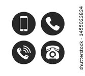 phone icon vector. mobile phone ... | Shutterstock .eps vector #1455023834