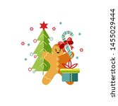 merry christmas and happy new... | Shutterstock .eps vector #1455029444
