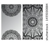 templates card with mandala... | Shutterstock .eps vector #1455030884