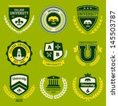 set of university and college... | Shutterstock .eps vector #145503787