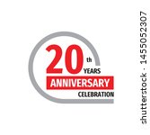 20th years anniversary... | Shutterstock .eps vector #1455052307