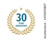 30th years anniversary badge...   Shutterstock .eps vector #1455053807