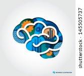 Minimal Style Brain Icon...