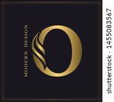 elegant capital letter o.... | Shutterstock .eps vector #1455083567