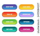 trendy vector buttons for web...