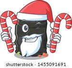 santa with candy garbage bag... | Shutterstock .eps vector #1455091691