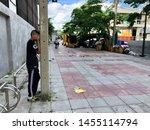 july 16  2019 bangkok. a boy... | Shutterstock . vector #1455114794