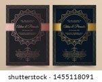 invitation card vector design   ... | Shutterstock .eps vector #1455118091