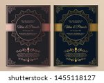 invitation card vector design   ...   Shutterstock .eps vector #1455118127