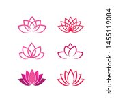 lotus flowers logo template icon | Shutterstock .eps vector #1455119084