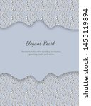 elegant template with pearl... | Shutterstock .eps vector #1455119894