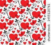 seamless pattern with red... | Shutterstock .eps vector #1455120761