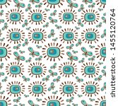 seamless pattern with flowers... | Shutterstock .eps vector #1455120764