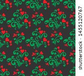 seamless pattern with hearts... | Shutterstock .eps vector #1455120767