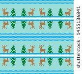 christmas seamless pattern ... | Shutterstock .eps vector #1455136841
