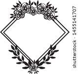 beautiful wedding frame ... | Shutterstock .eps vector #1455141707