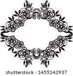 vintage wedding design  with... | Shutterstock .eps vector #1455142937