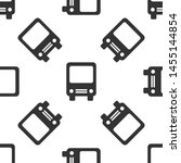 grey bus icon isolated seamless ... | Shutterstock .eps vector #1455144854