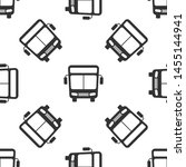 grey bus icon isolated seamless ... | Shutterstock .eps vector #1455144941