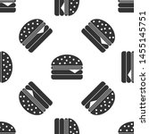 grey burger icon isolated... | Shutterstock .eps vector #1455145751