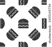 grey burger icon isolated... | Shutterstock .eps vector #1455145754