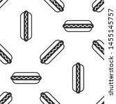 grey hotdog sandwich with... | Shutterstock .eps vector #1455145757