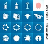 set of icons for milk. abstract ... | Shutterstock .eps vector #145515235