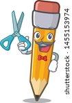 barber pencil cartoon above the ... | Shutterstock .eps vector #1455153974