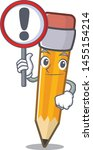 with sign pencil cartoon above... | Shutterstock .eps vector #1455154214