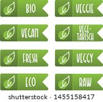 set of vegan label and tag... | Shutterstock .eps vector #1455158417