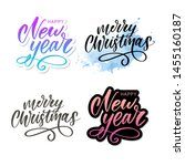 merry christmas calligraphic... | Shutterstock .eps vector #1455160187