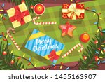 christmas presents colorful... | Shutterstock .eps vector #1455163907