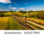 fence and view of rolling hills ... | Shutterstock . vector #145517944