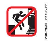 do not jump from platform sign... | Shutterstock .eps vector #1455199544