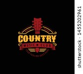 country music club typography... | Shutterstock .eps vector #1455202961