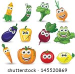 cartoon vegetables with... | Shutterstock .eps vector #145520869