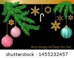 merry christmas greeting card.... | Shutterstock .eps vector #1455232457