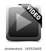 Play video button - stock vector