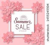 summer sale calligraphy hand... | Shutterstock .eps vector #1455245504