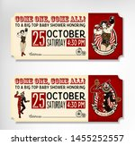 vintage circus tickets. the... | Shutterstock .eps vector #1455252557