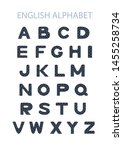 vector hand drawn blue english... | Shutterstock .eps vector #1455258734