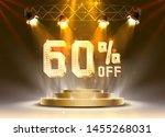 scene golden 60 sale off text... | Shutterstock .eps vector #1455268031