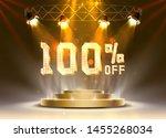 scene golden 100 sale off text... | Shutterstock .eps vector #1455268034