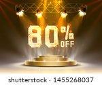 scene golden 80 sale off text... | Shutterstock .eps vector #1455268037
