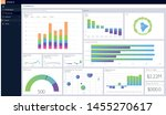 dashboard template. charts... | Shutterstock .eps vector #1455270617
