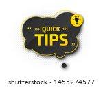 quick tips  helpful tricks.... | Shutterstock .eps vector #1455274577