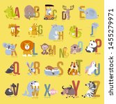 animal alphabet graphic a to z. ... | Shutterstock .eps vector #1455279971